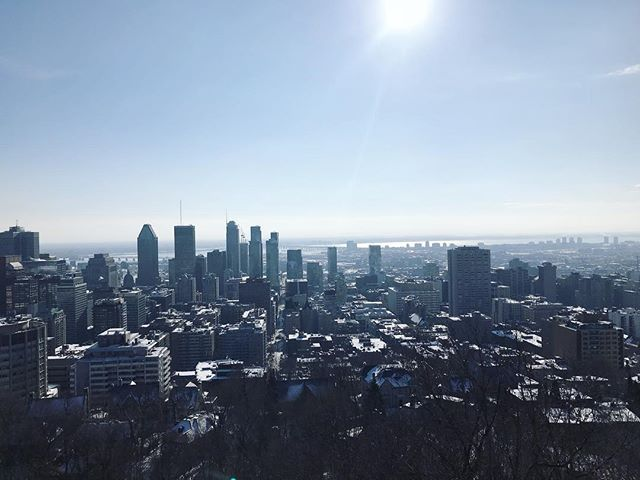 Beautiful morning run up to this view! First full day in Montreal and Im in love with this city already  #views