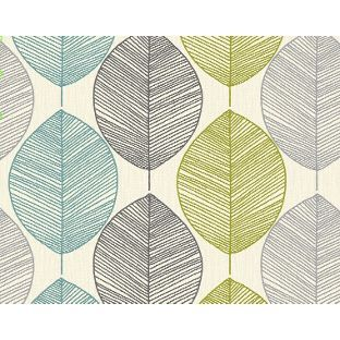 Arthouse Opera Retro Leaf Wallpaper Teal Green From