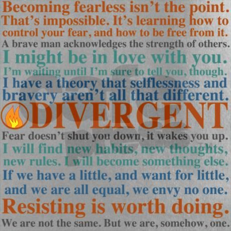 Divergent Quotes Shirt on CafePress.com