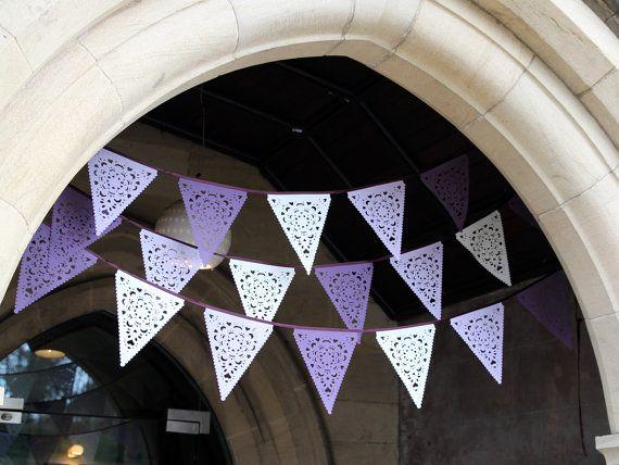 Purple Wedding Garland, lilac and ivory wedding decorations,
