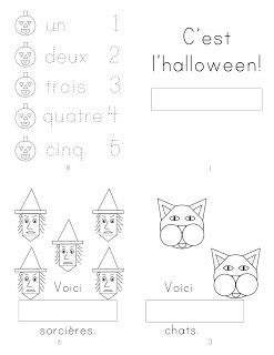 free French printable mini book - je vois combien?
