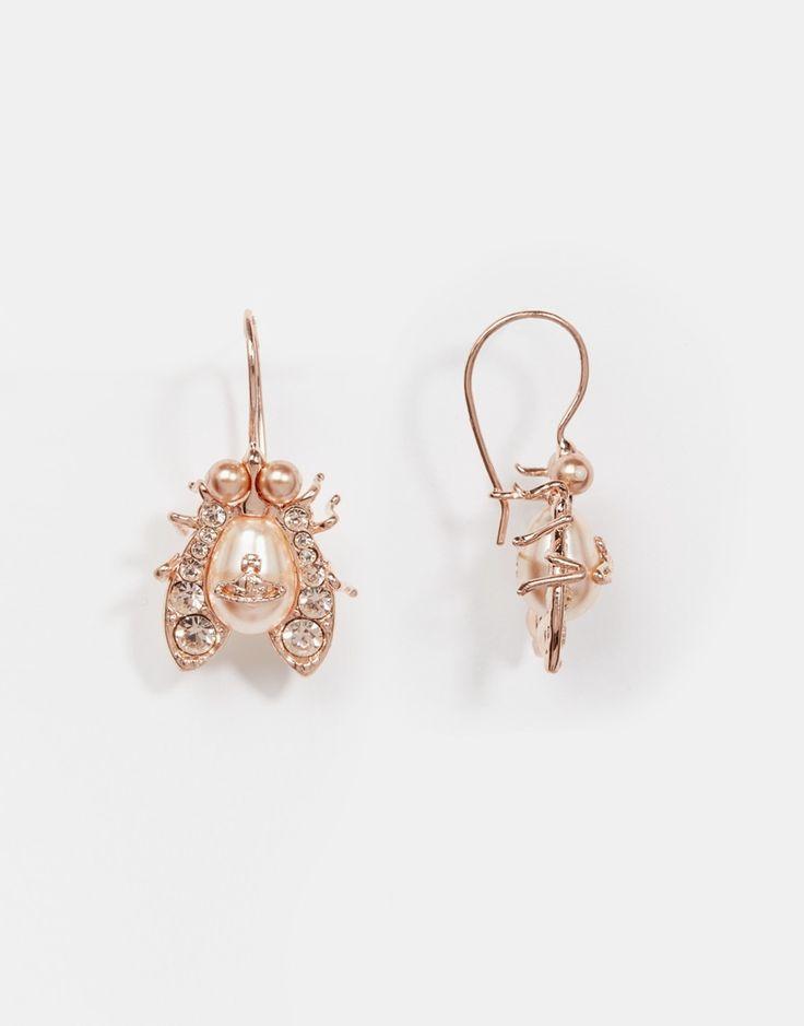 Image 1 of Vivienne Westwood Rose Gold Gillian Earrings