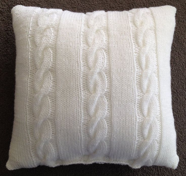 Retro Hand Knitted Cushion Cover by Retrocushioncovers on Etsy