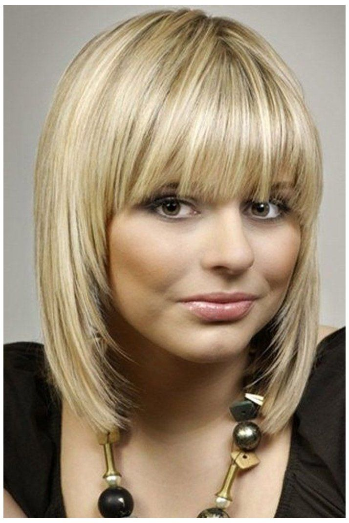 30 Fringe Hairstyles For Medium Length Hair Short Hair For Round Face With Bangs Shoulder Hair Styles Medium Length Hair With Bangs Thin Hair Haircuts