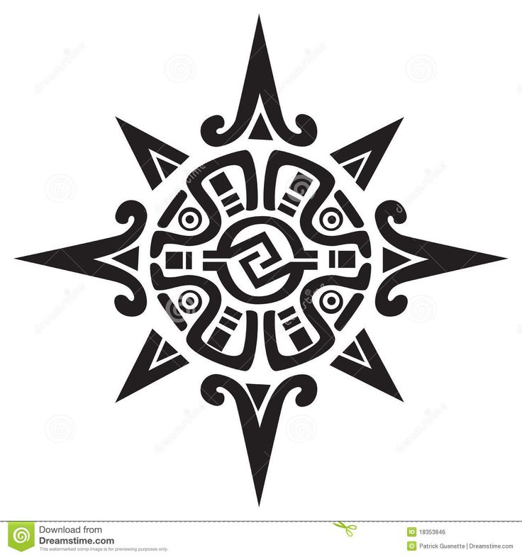 Mayan Or Incan Symbol Of A Sun Or Star Download From Over 46
