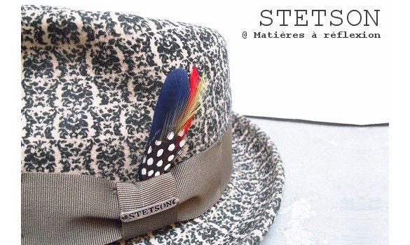 Stetson chapeau Pueblo vert/blanc #stetson #hat #hats #chapeau #chapeaux #green #white #vert #blanc #laine #wool