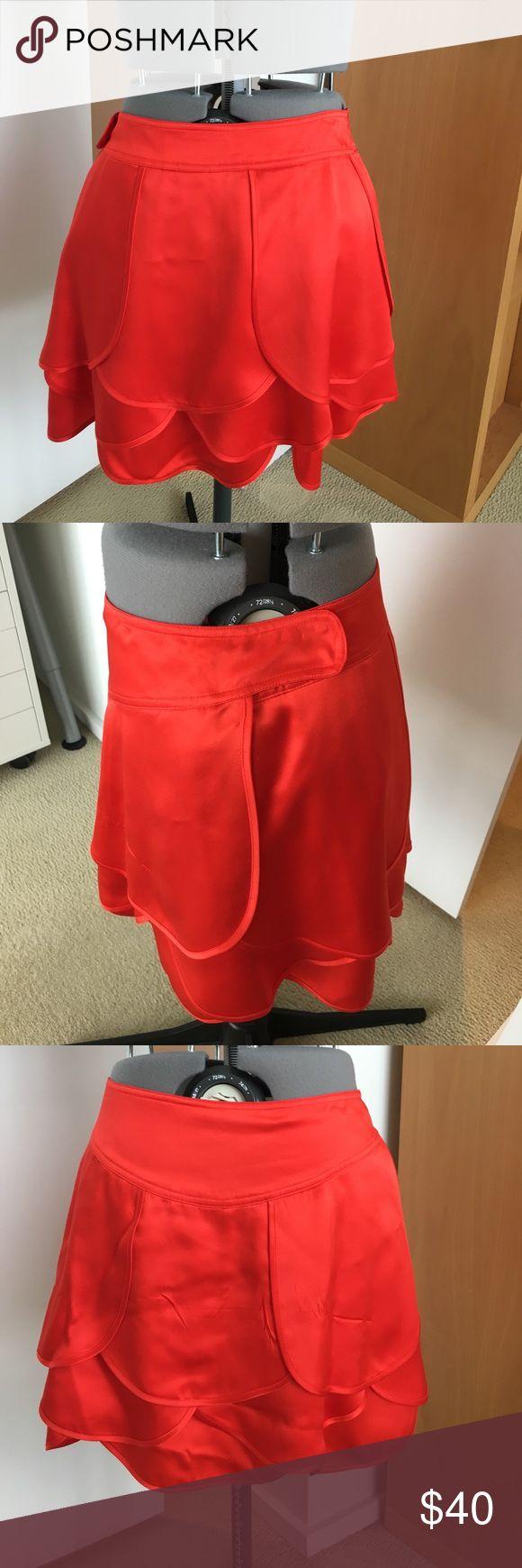 A/X Armani Exchange Red silk mini skirt A/X Armani Exchange Red 100% silk mini skirt, size 6 A/X Armani Exchange Skirts Mini