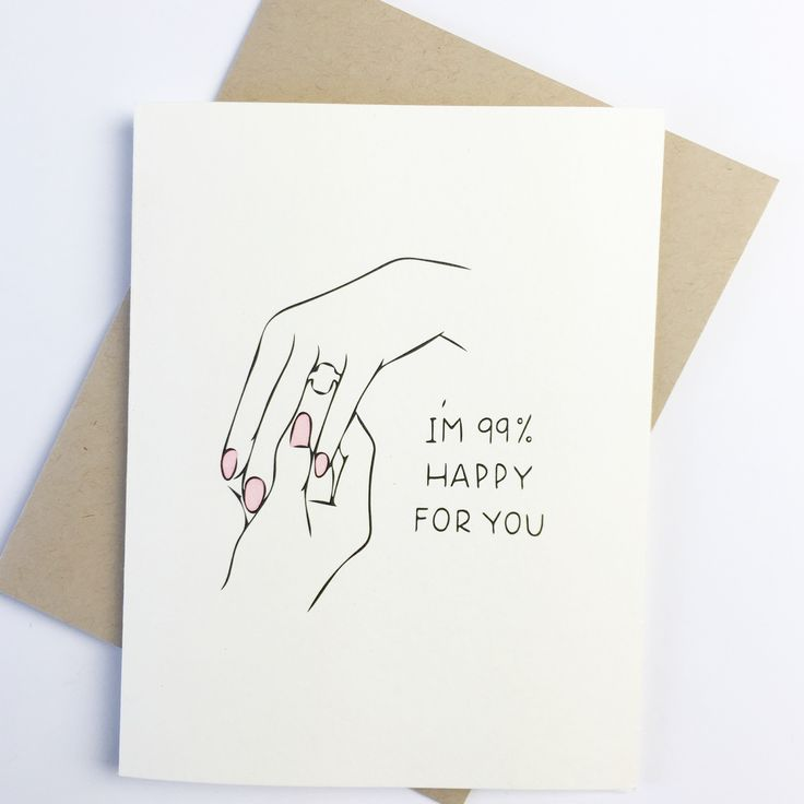 funny personal wedding card matter%0A Funny Engagement Card