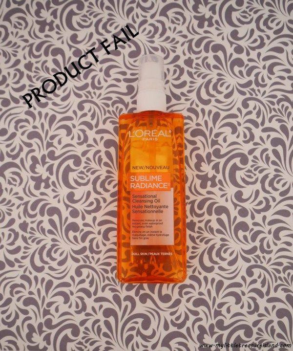 Product fail: l'oreal paris sublime radiance sensational cleansing oil