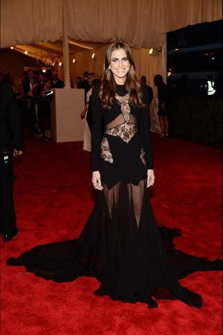 The 2013 Met Gala Red Carpet- Allison Williams, in custom Altuzarra