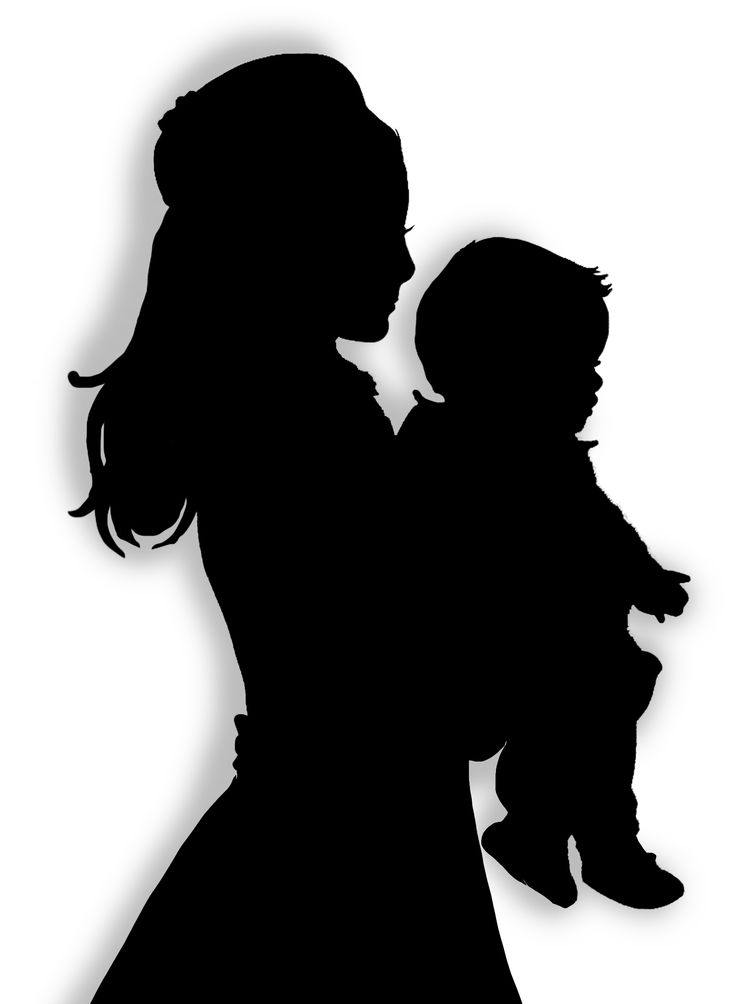 96 best images about Silhouettes on Pinterest Mother And Baby Silhouette Clip Art Free