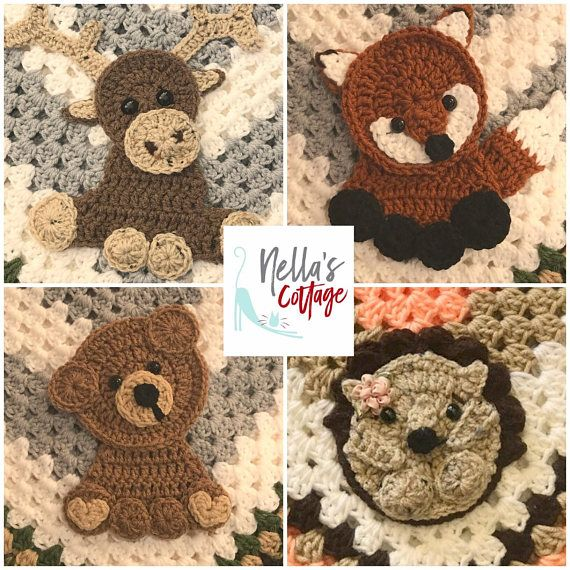 Crochet Woodland Animals - INSTANT PDF DOWNLOAD - Pattern - Woodland Pattern - Crochet - Crochet Woodland - Moose - Bear - Hedgehog - Fox
