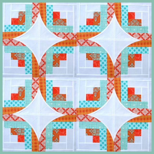 Log cabin using Quilt Curve Ruler - links to more curving blocks.  Very good tutorials - very clear instructions