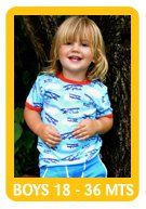 Browse our toddler boy selection 18  - 36 mts
