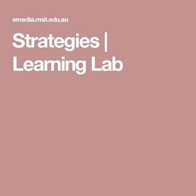 Strategies | Learning Lab