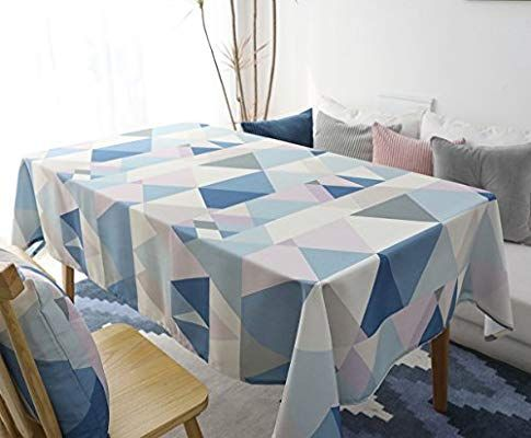 Rectangle Polyester Cotton Tablecloth Yanyi Water Resistance