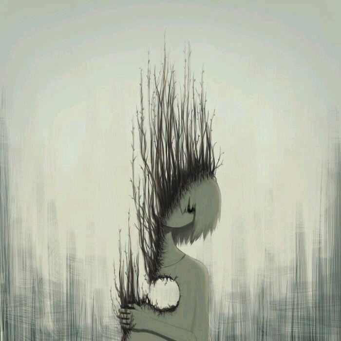 Депрессия арт картинки