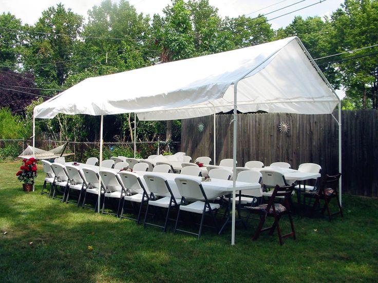 Quictent 10 X 20 Heavy Duty White Carport Canopy Party