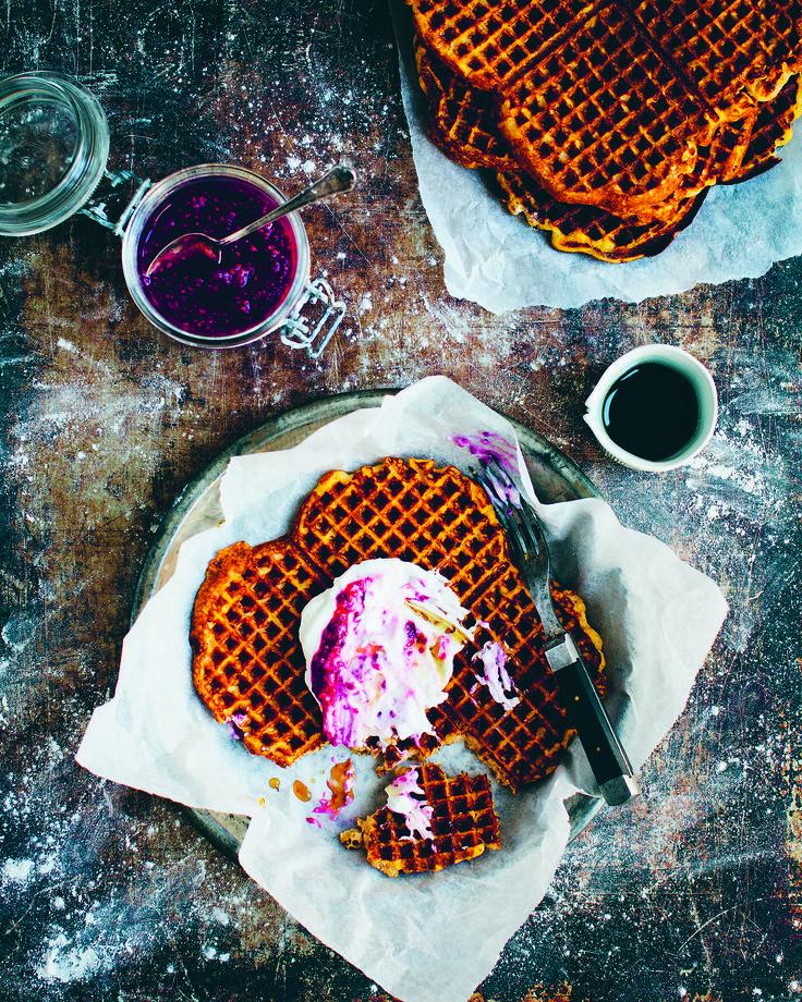 Green Kitchen Stories Pumpkin and Almond Waffles