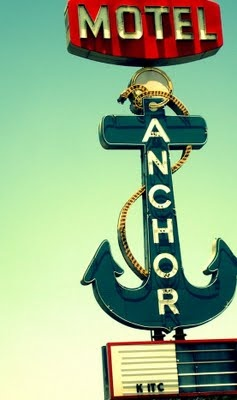 Anchor.Vintage, Signs Signs, Neon, Signage, Kitschy Living, Anchors Motel, Photography, Nautical, Motel Signs