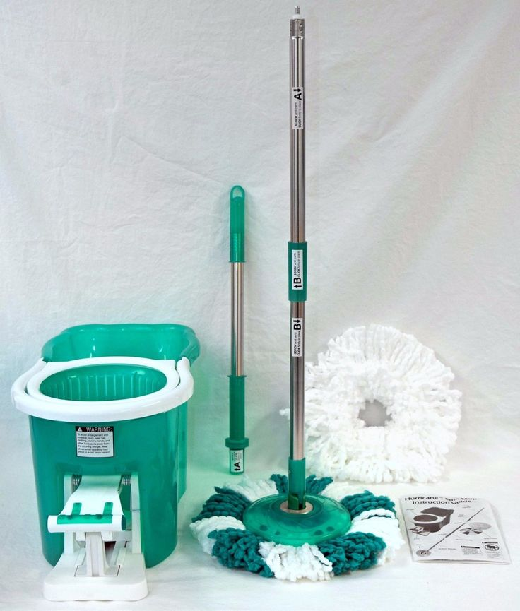 The Hurricane Spin Mop is the amazing mop and bucket system that cleans practically anything and everything, picking up dirt then spinning it away! Just dip the mop head in the washer side and the dirty mess releases into the bucket. Then place it in the dryer side and push on the pedal to spin away excess dirt and water so you get a clean mop head that's practically dry and ready for more. Your hands will never again touch a dirty disgusting mop!