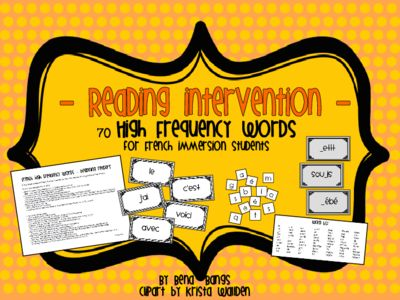 {Reading Intervention} French High Frequency words for beginning readers from The Busy Blonde B on TeachersNotebook.com -  (28 pages)  - {Reading Intervention} French High Frequency words for beginning readers