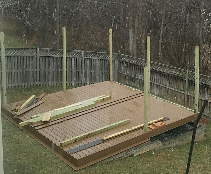 How To Build A Diy Floating Deck In A Sloped Backyard 400 x 300