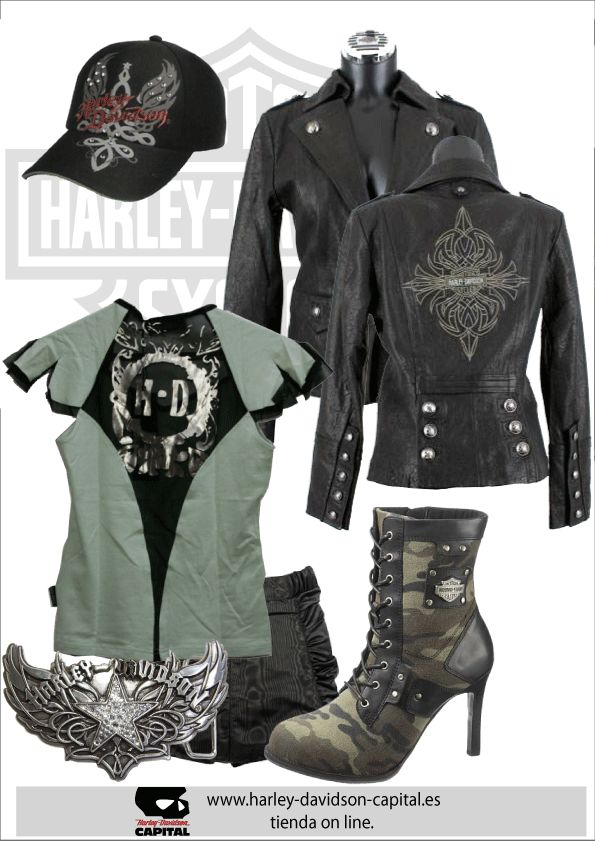 MILITARY COLLECTION DE HARLEY-DAVIDSON  Love the jacket and boots!