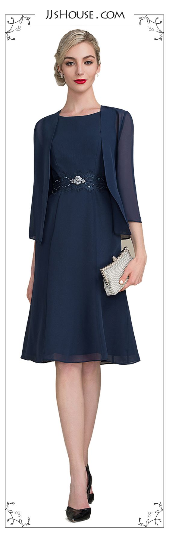 This mother of the bride dress is really economical, for it can be worn in Spring, Summer and Fall...#JJsHouse