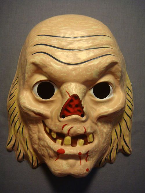 plastic off model crypt keeper mask space ghostghostsvintage halloweenmaskszombiesfolk - Space Ghost Halloween Costume