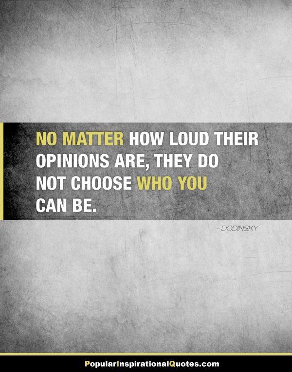 quote about opinions and character