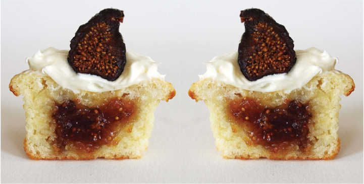 Sour Cream Fig Cupcakes with Cream Cheese Frosting