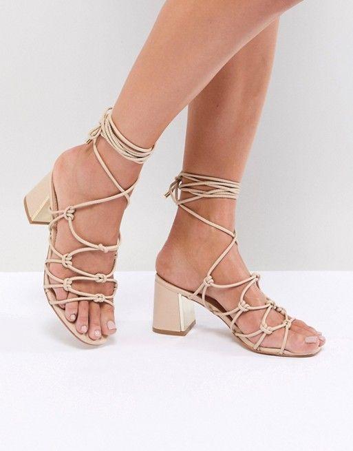 e80cd2436292 Boohoo Lace Up Heeled Sandals