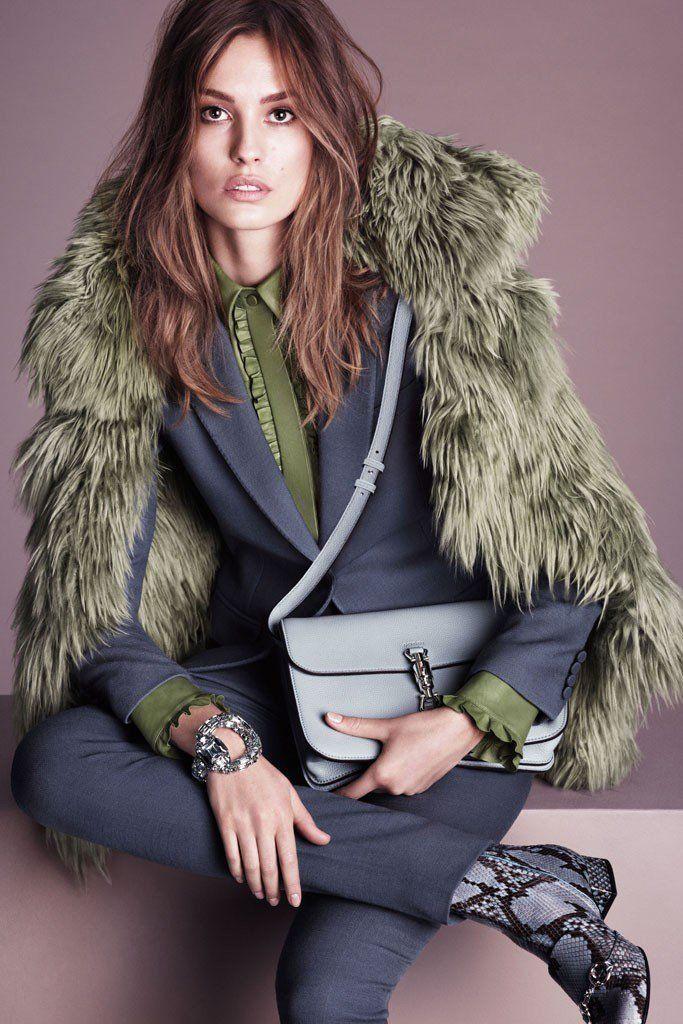 Nadja Bender for Gucci Fall 2014 Advertisements