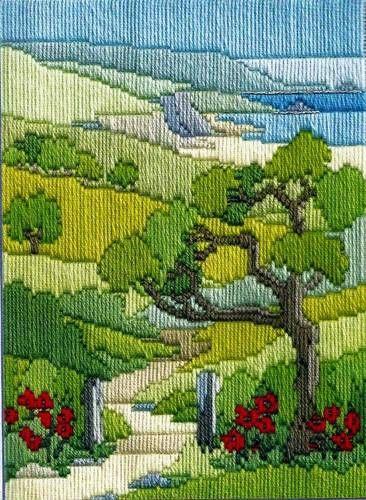 Summer Walk, longstitch embroidery kit, by Derwentwater, UK
