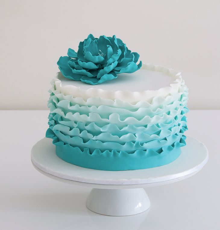 Best 25 Teal Cake Ideas On Pinterest Cake For Wedding