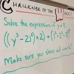 A new challenge is posted every Monday and students have until the end of the day Thursday to try it.