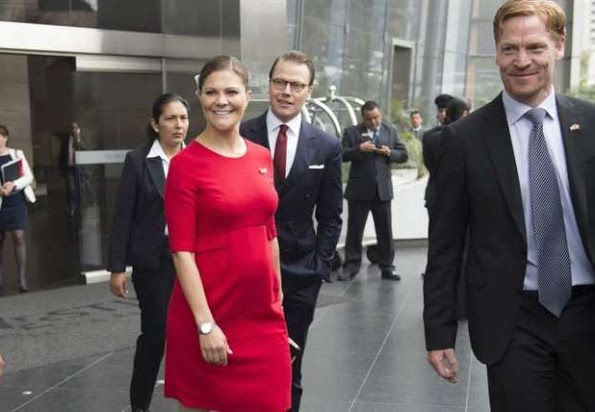 Crown Princess Victoria of Sweden and Prince Daniel visits Peru. The Crown Princess Couple participated in the inauguration of a seminar and met with students at Universidad de Lima on October 19, 2015 in Lima, Peru.
