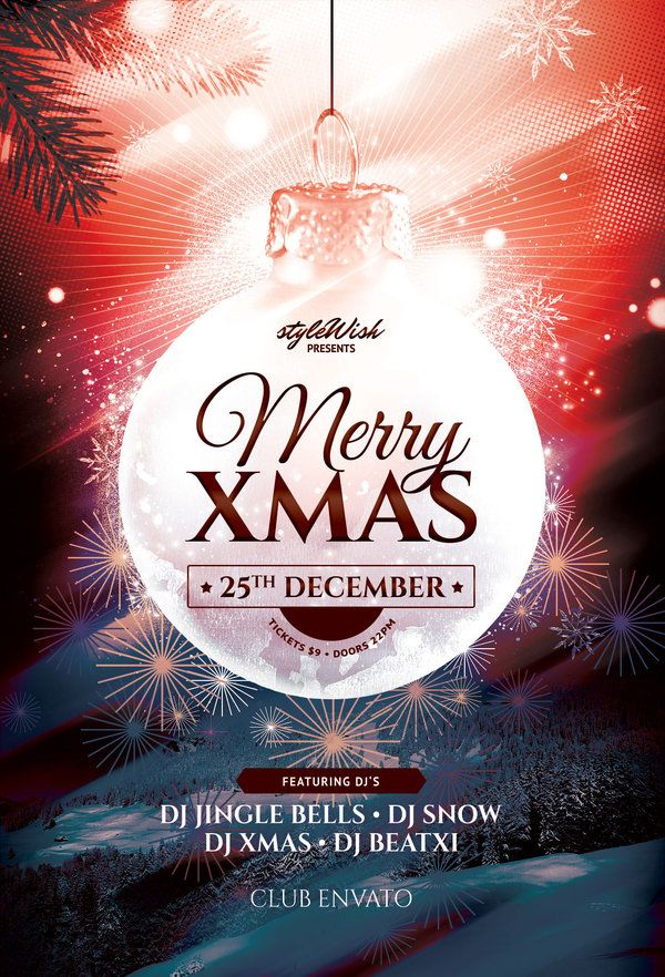 Best Christmas Flyer Design Images On   Christmas