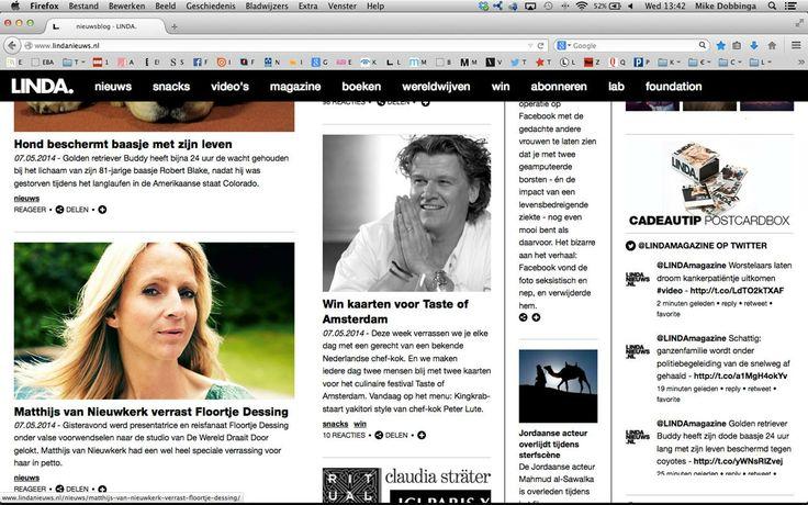 Peter bij LINDA voor Taste of Amsterdam www.lute.nu