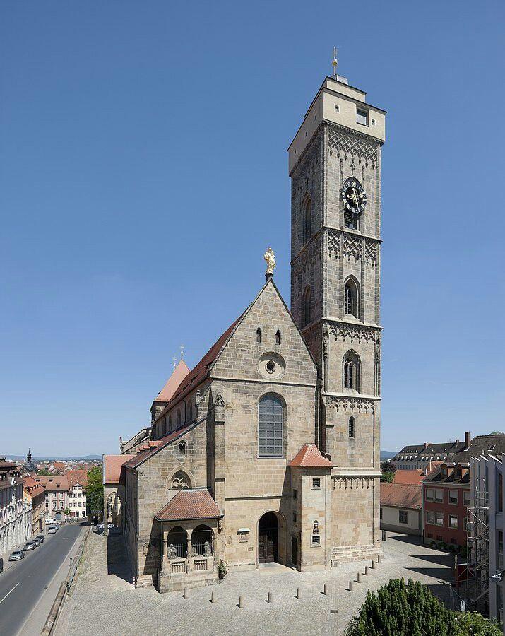 Bamberg Oberes Pfarrkirche. XIV secolo. Interno barocco