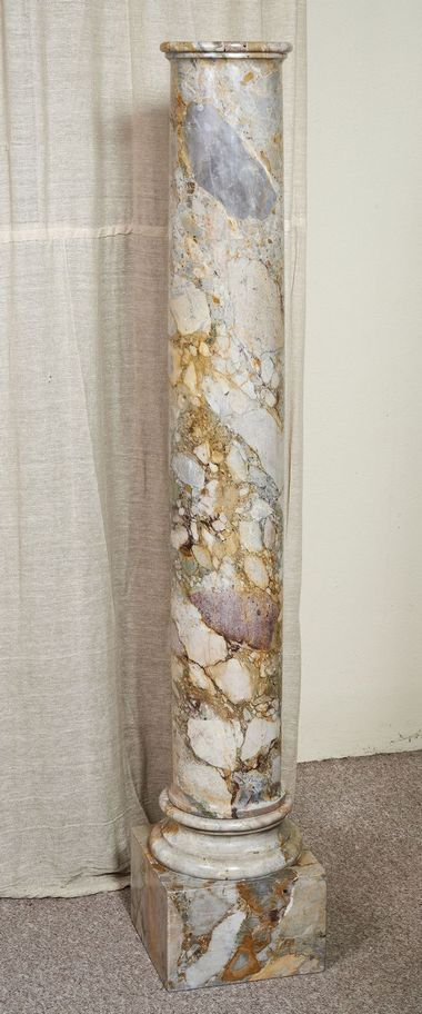 Good Pair of 18th Century Roman Breccia Marble Columns from www.craigcarrington.com