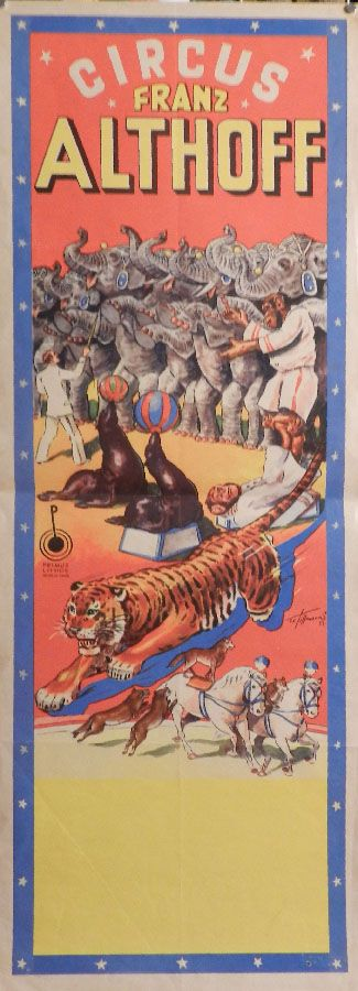 Circus collection: Affiche Franz Althoff 1953