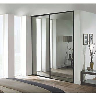 Order online at Screwfix.com. 2 classic, black framed mirror, sliding wardrobe doors. Ready assembled to fit onto matching trackset supplied. FREE next day delivery available, free collection in 5 minutes.