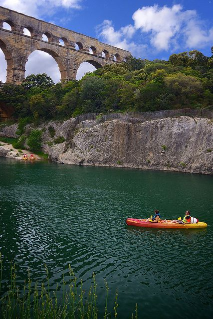 Kayaking is one of the many things you can at the Pont Du Gard - France