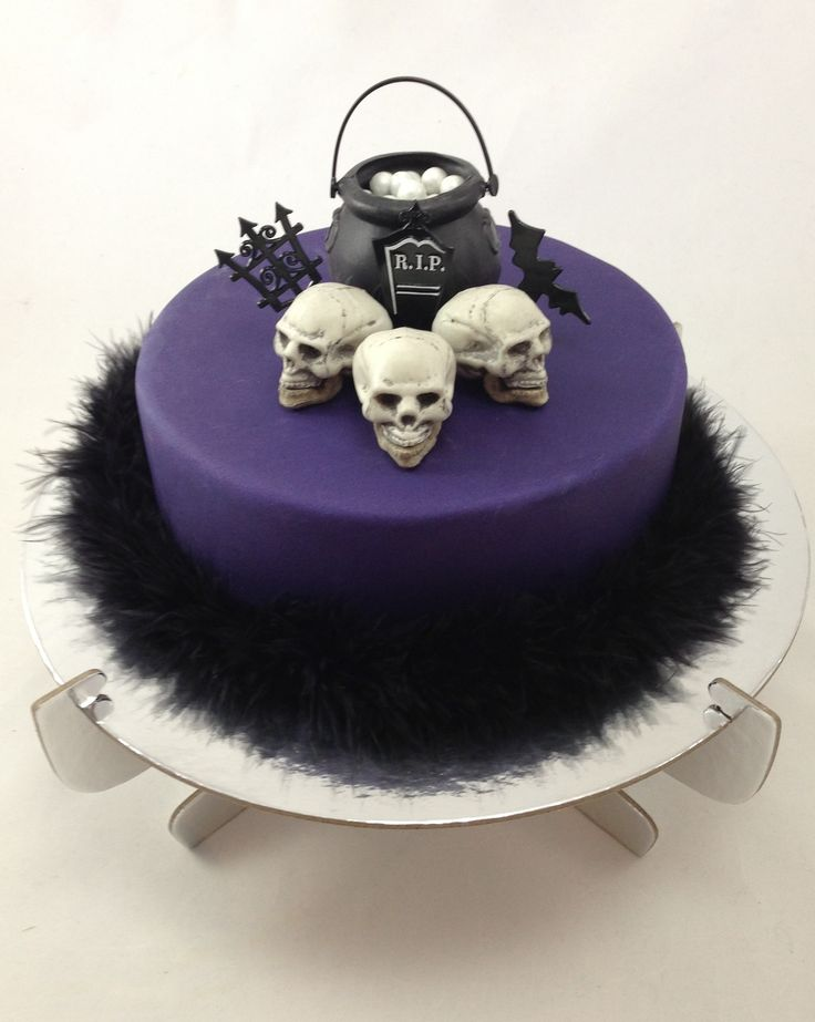 DIY Halloween Skull Cake Kit ...just choose your cake flavour and your kit has everything you need to create this seriously awesome cake!...$69.95. Click here: http://www.icingonthecakekits.com/item_161/Halloween-Skulls-Cake-Kit.htm
