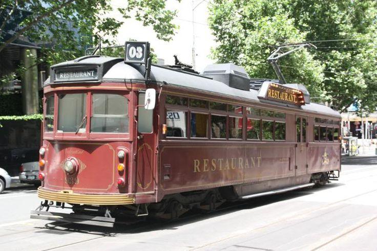 Tram 939 operating in Melbourne as a restaurant car