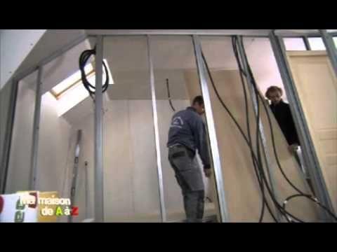 Comment monter une cloison en plaques de plâtre soi-même (gedimat) - Ma maison de A à Z - YouTube