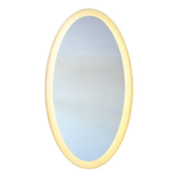 Backlit Oval Bathroom Mirror