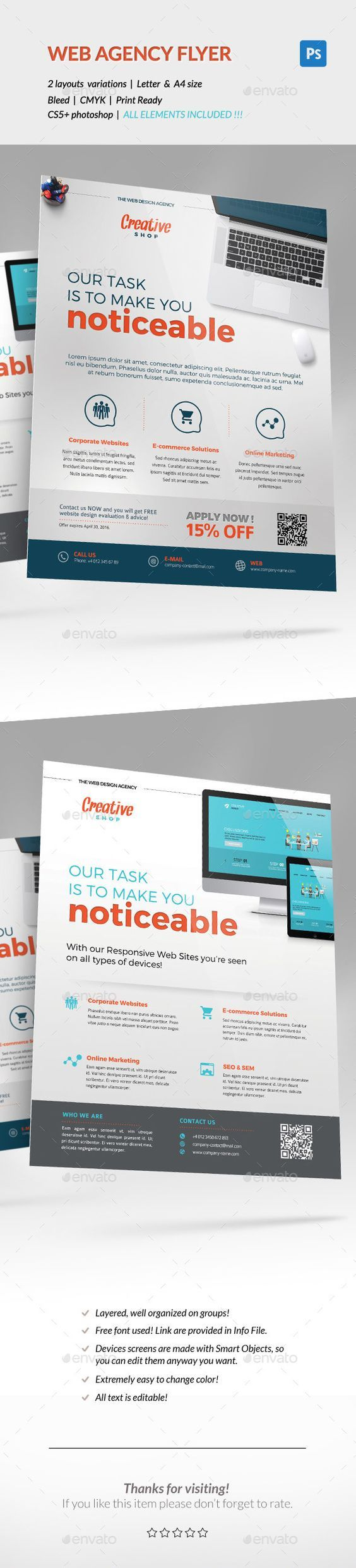 Corporate Flyer U2013 Web Design Agency Promote Your Creative Agency Wits This  Flyer Template. In